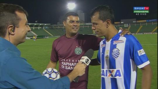 Ex-gandula, Didira reencontra em Campinas Gabriel Oliveira, um ex-jogador que virou gandula; vídeo