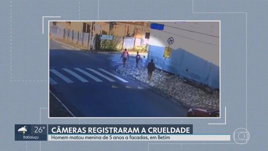 Vídeo mostra homem se aproximando de menina antes de atacá-la a facadas em Betim