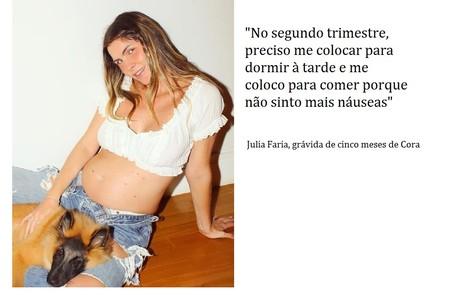 Julia Faria, que fez a novela 'Haja coração' na Globo, está grávida do chef de cozinha Augusto Cavanha Reprodução