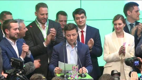 Comediante Volodimir Zelenskiy é eleito presidente da Ucrânia