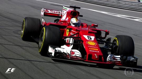 Em dia de tetracampeões, Vettel vence, e Hamilton dá show em Interlagos