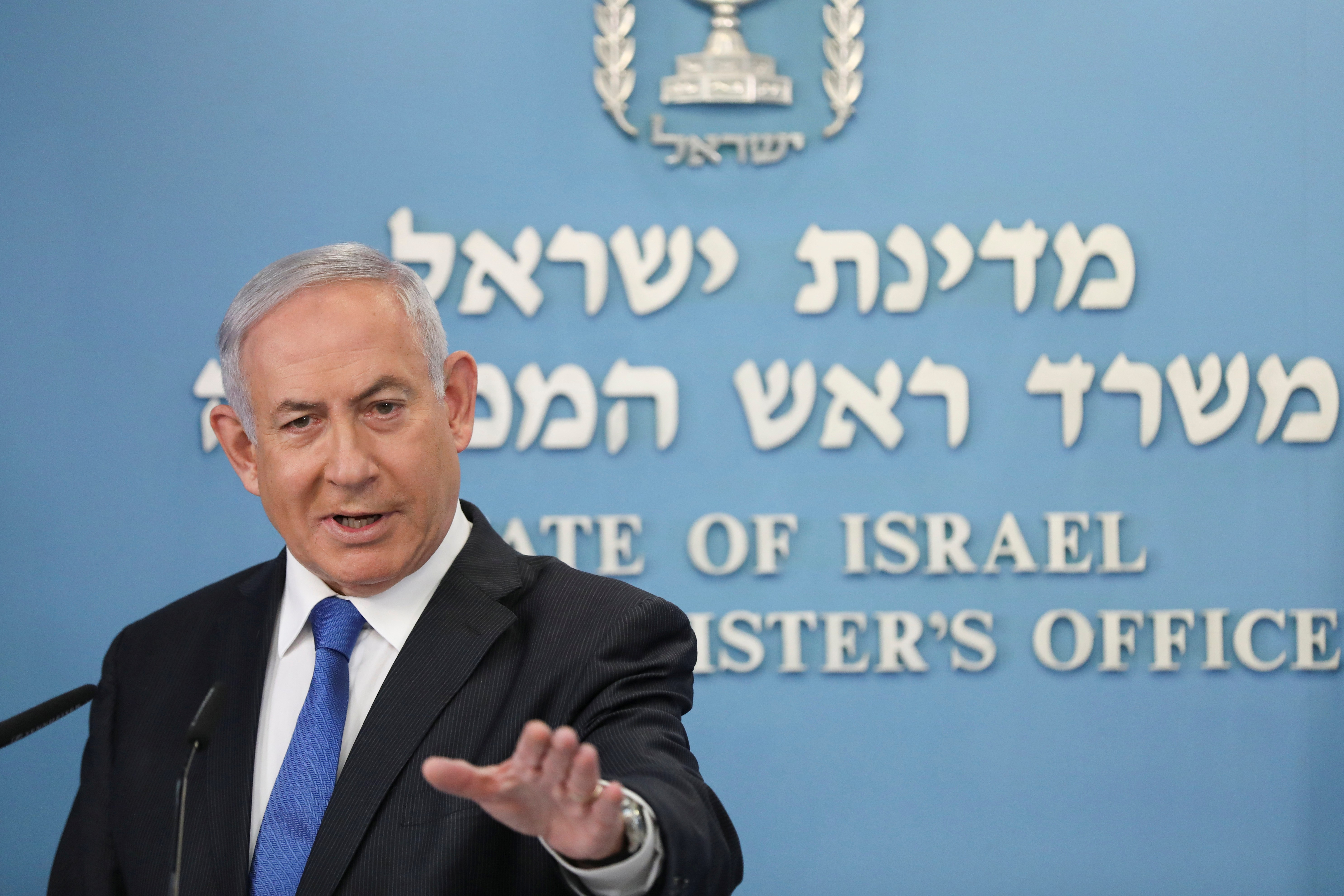Manifestantes protestam contra primeiro-ministro de Israel por acusações de corrupção
