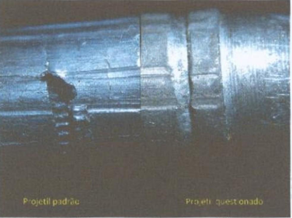 Exames compararam balas usadas em 17 assassinatos — Foto: Reprodução