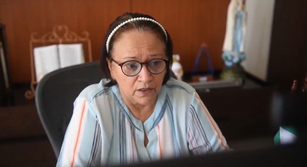 Governadora do Rio Grande do Norte, Fátima Bezerra (PT), anunciou que as aulas presenciais nas escolas públicas estaduais só serão retomadas em 2021. — Foto: Reprodução