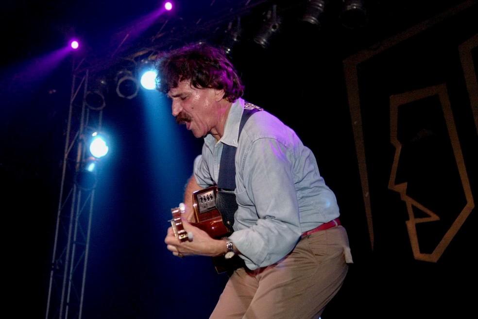 Belchior em um show em Porto Alegre, em foto clicada pela amiga Dulce Helfer (Foto: Dulce Helfer/Arquivo Pessoal)