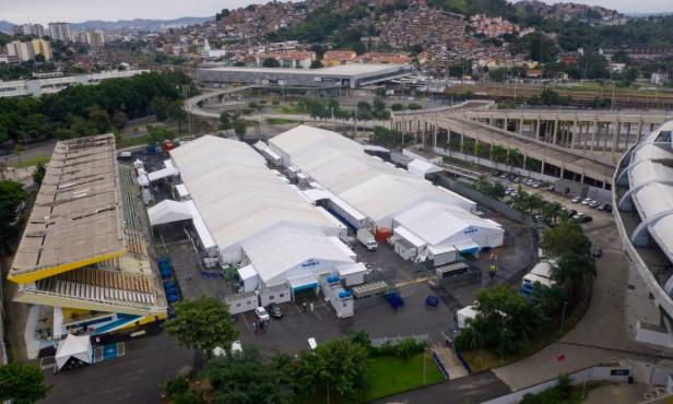 Hospital de campanha do Maracanã