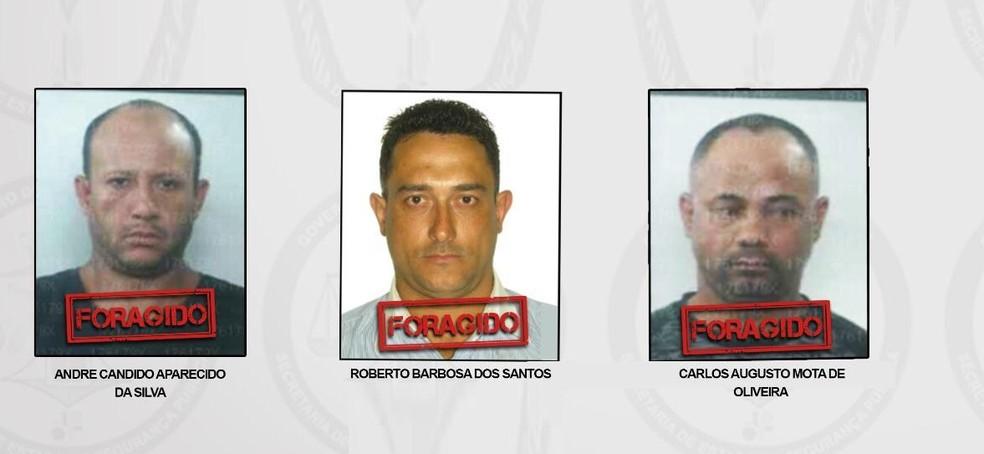 Presos que fugiram da Papuda na madrugada desta terça-feira (28)  — Foto: Secretaria de Segurança Pública do DF/Reprodução
