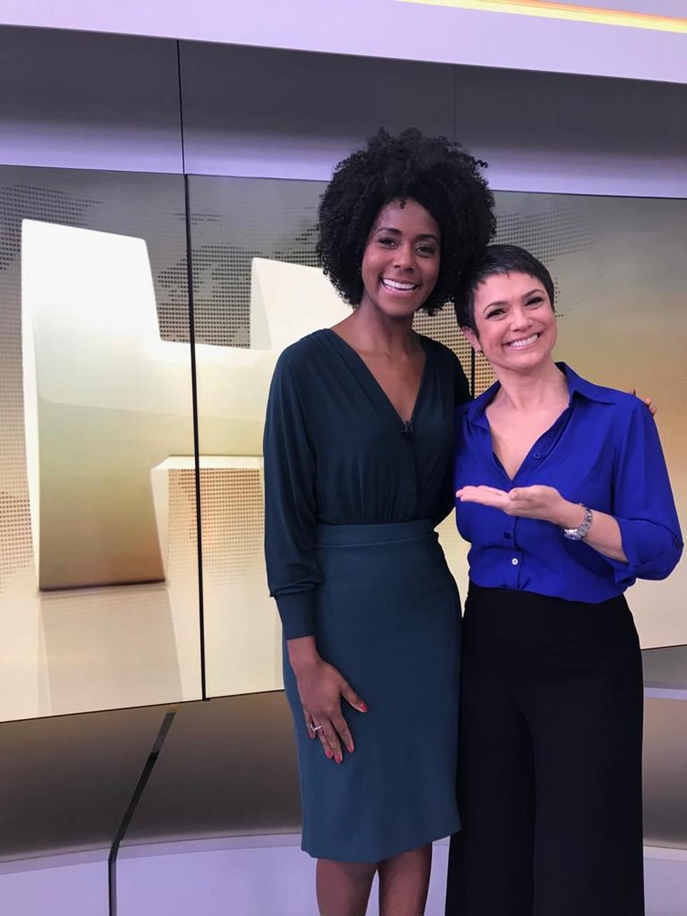 Sandra Annanbergb e Maju Coutinho — Foto: Manuela Ceragioli / TV Globo