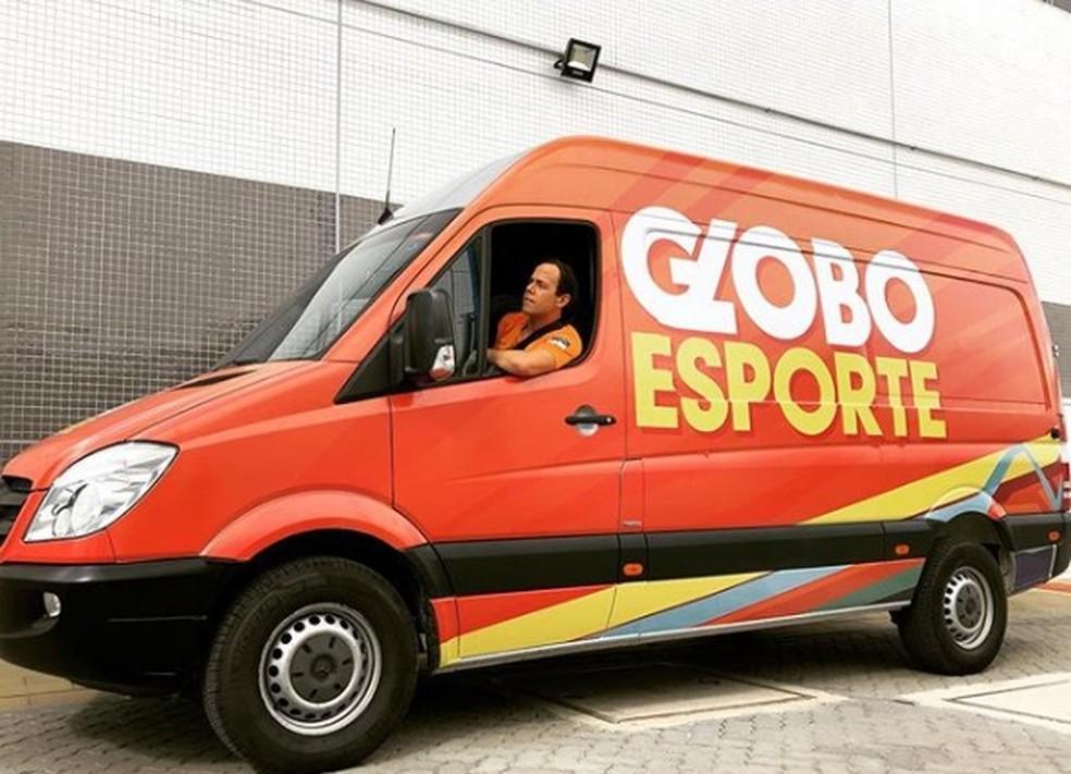 Tiago Medeiros é o apresentador do GE Pernambuco. — Foto: Reprodução.