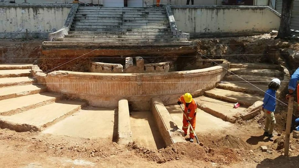 Ruínas de construção foram encontradas em escavação de obra em Salvador — Foto: Arquivo Pessoal