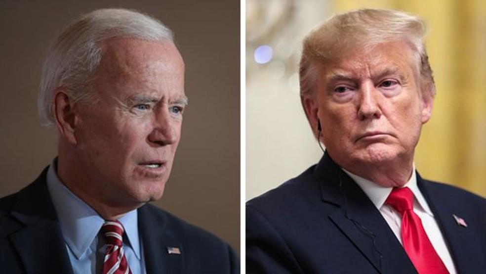 Joe Biden enfrentará o atual presidente dos Estados Unidos, Donald Trump, nas eleições deste ano — Foto: Getty Images via BBC