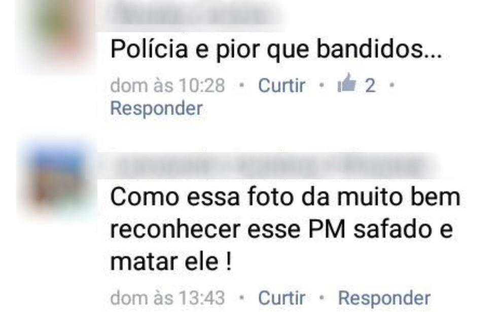 Capitão Augusto Sampaio diz que recebeu ameaças de morte nas redes sociais (Foto: Reprodução)