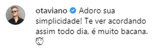 Otaviano Costa brinca com Flávia Alessandra (Foto: Reprodução / Instagram)