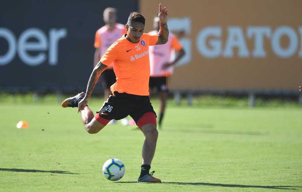 Guerrero no treino do Inter — Foto: Ricardo Duarte/Divulgação Inter