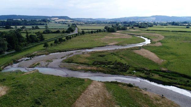 Segundo o ambientalista, nos últimos dez anos, o rio Teme secou quatro vezes (Foto: Direito de imagemDAVE THROUP/ ENVIRONMENT AGENCY, UK)