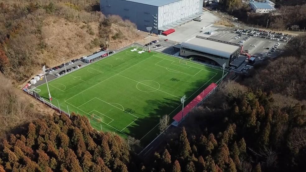 União de empresários locais deu estrutura de elite ao Iwaki FC, que ainda tenta disputar o equivalente à Série D do Japão — Foto: Reprodução