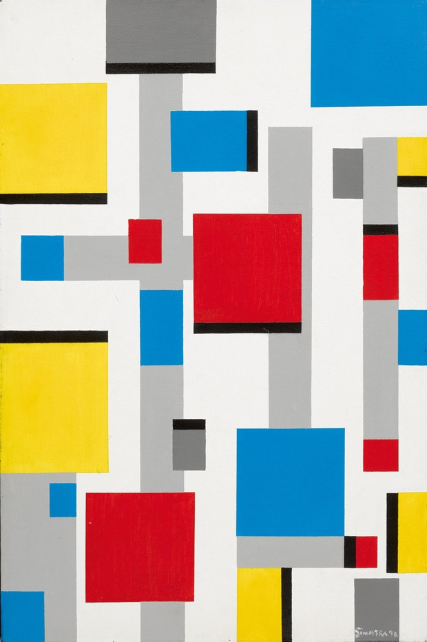 "Uma pintura de Frank Sinatra, ""Abstract after Mondrian"""