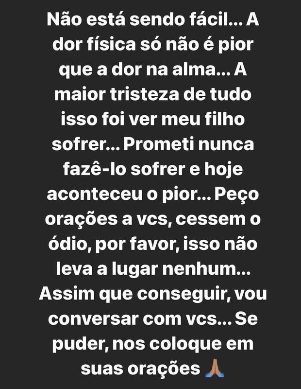 Apresentadora Silvye Alves se pronuncia na web após agressão do ex (Foto: Reprodução/Instagram)