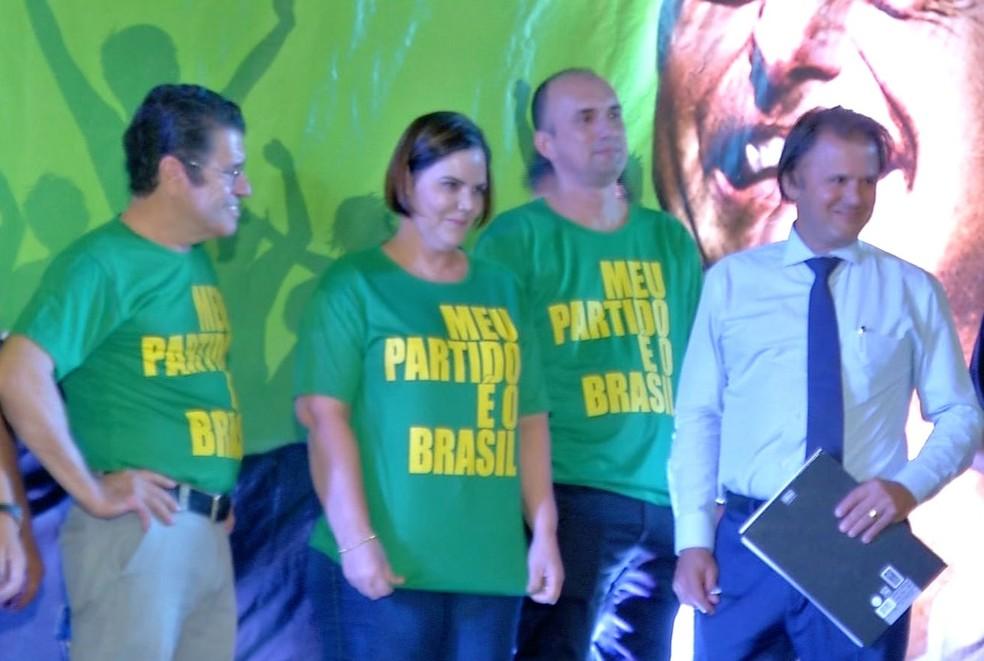 Patriotas escolheu a Tenente Coronel Rúbia Fernanda de Oliveira para concorrer a vaga — Foto: TVCA/Reprodução