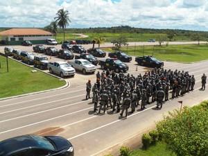 Índios estavam em quartel no município de Humaitá desde o dia 25 deste mês (Foto: Divulgação/54º BIS)