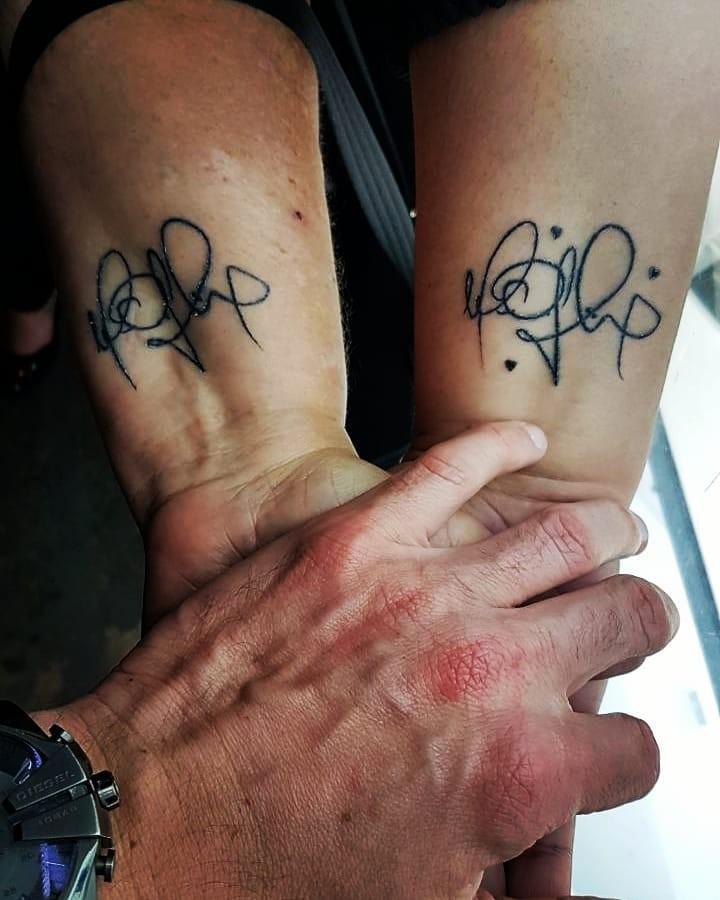 Fã faz tatuagem do autógrafo do ex-BBB Marcos (Foto: Reprodução / Instagram)