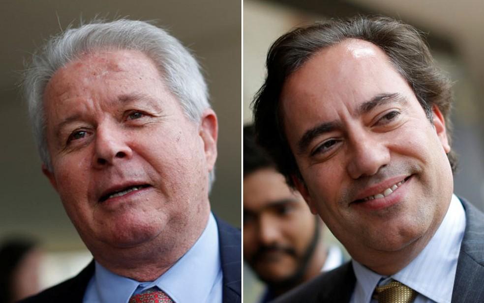 Rubem Novaes e Pedro Guimarães, indicados para presidir o Banco do Brasil e a Caixa, respectivamente — Foto: Reuters