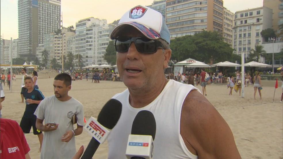 Renato Portaluppi, técnico do Grêmio, passa as férias no Rio de Janeiro — Foto: Reprodução