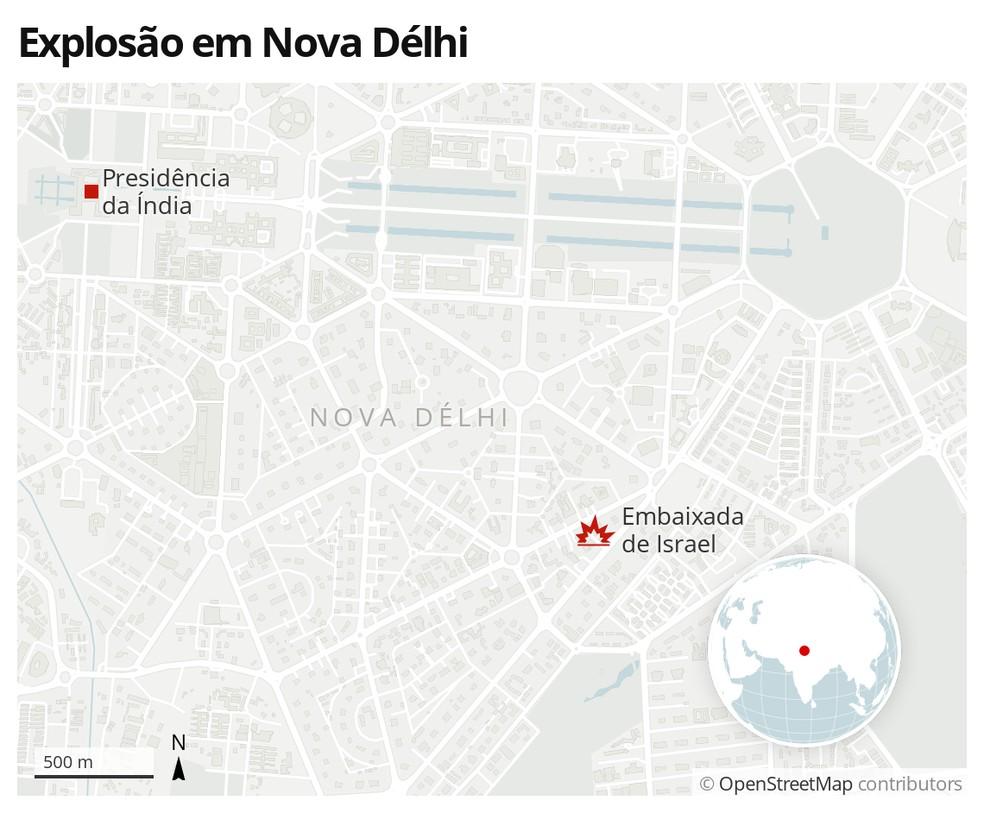 Explosão em Nova Délhi — Foto: G1 Mundo