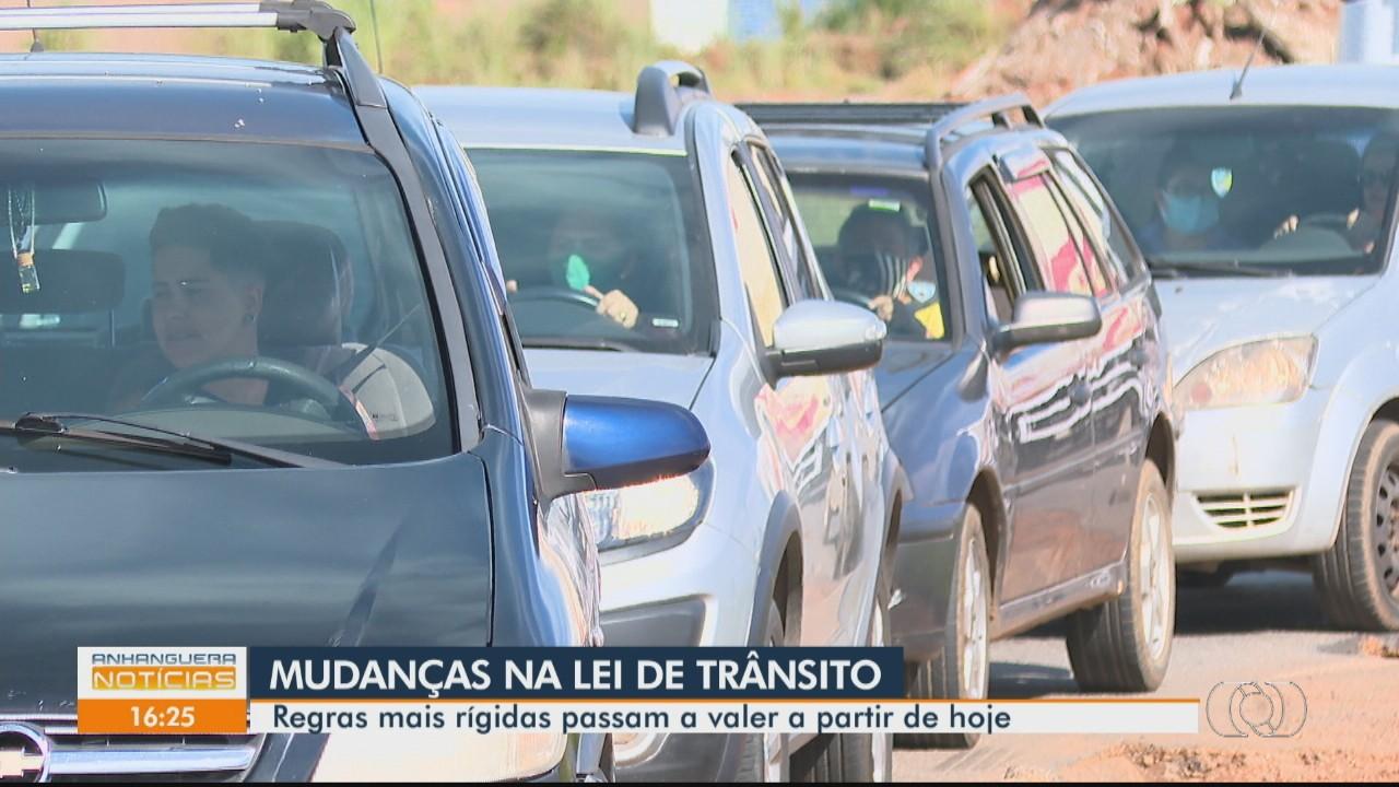 Mudanças no Código de Trânsito Brasileiro passam a valer a partir desta segunda-feira