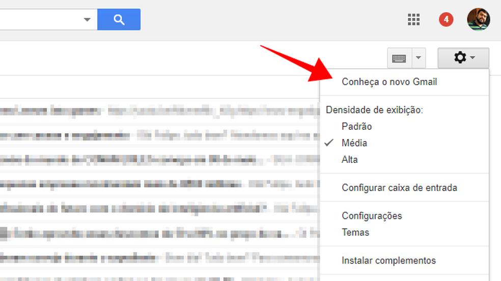 Ative o novo Gmail (Foto: Reprodução/Paulo Alves)