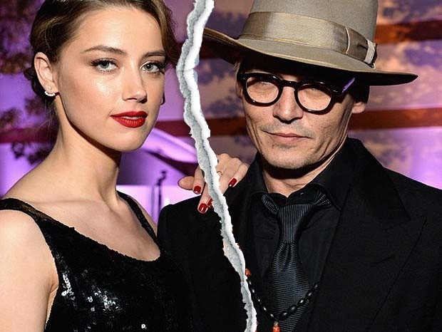 Amber Heard e Johnny Depp (Foto: Grosby Group)