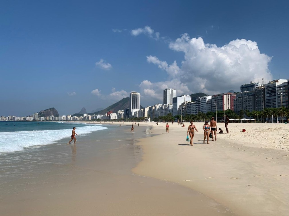 Praia de Copacabana (Arquivo) — Foto: Marcello Cavalcanti/Arquivo pessoal
