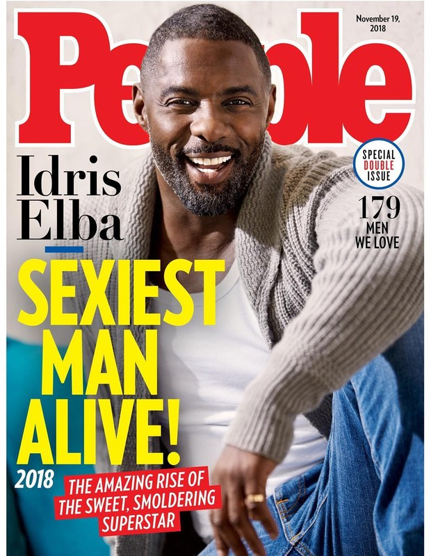 Idris Elba é eleito o homem mais sexy de 2018 pela revista People (Foto: Reprodução/People)