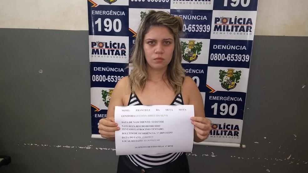Luciana Abreu da Silva, de 21 anos. — Foto: PM-MT