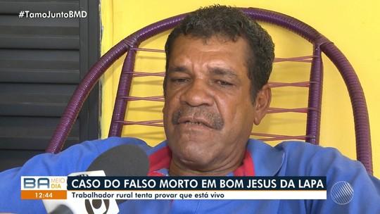 Baiano é dado como morto e tenta provar que está vivo há 13 anos; família enterrou corpo errado