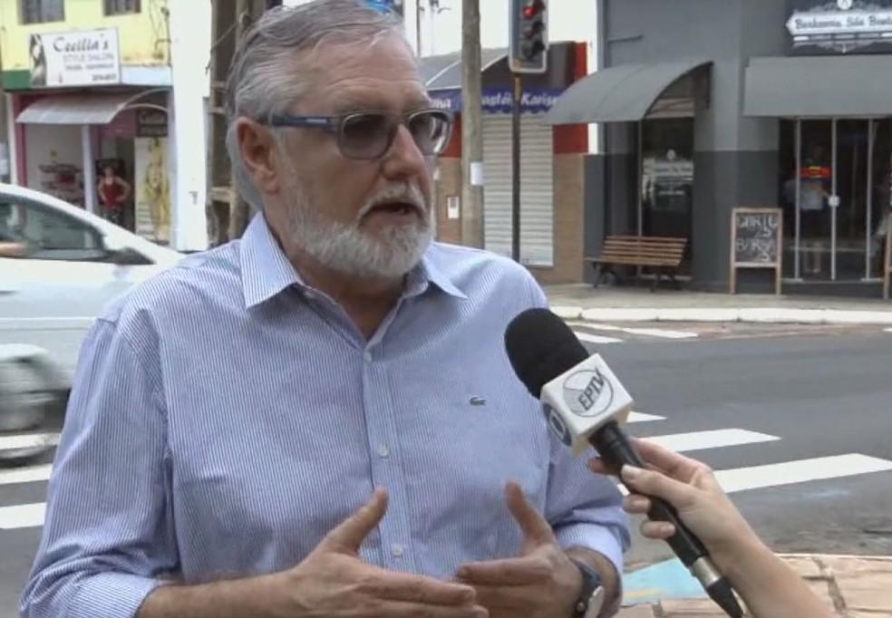 Coordenador de mobilidade urbana de Araraquara, Nilson Carneiro — Foto: Reprodução/EPTV