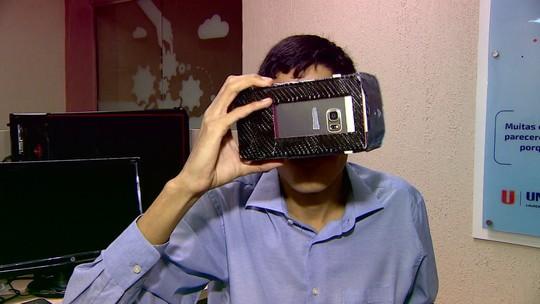 Jovens desenvolvem óculos de realidade virtual
