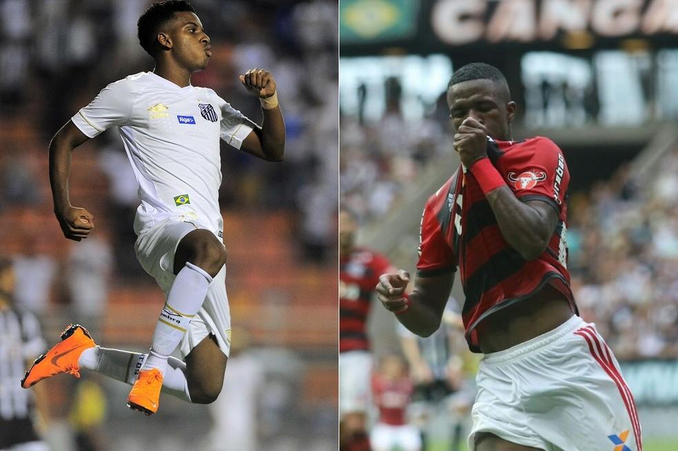 Rodrygo e Vinicius Júnior, os dois jogadores mais caros da história do futebol brasileiro, foram convocados para a seleção sub-20 (Foto: GloboEsporte.com)