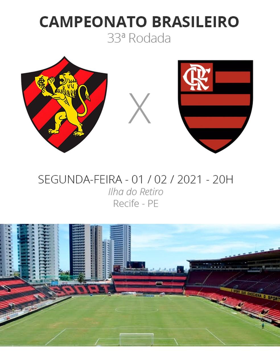 Ficha de Sport e Flamengo pela Série A do Brasileiro — Foto: Arte / Infoesporte