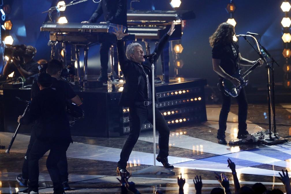 Bon Jovi se apresenta no iHeartRadio Music Awards 2018 (Foto:  REUTERS/Mario Anzuoni)