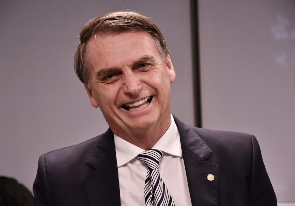 O presidente eleito Jair Bolsonaro — Foto: Rafael Carvalho/Governo de Transição
