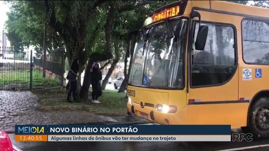 Novo binário no Portão muda trajeto de linhas de ônibus na região