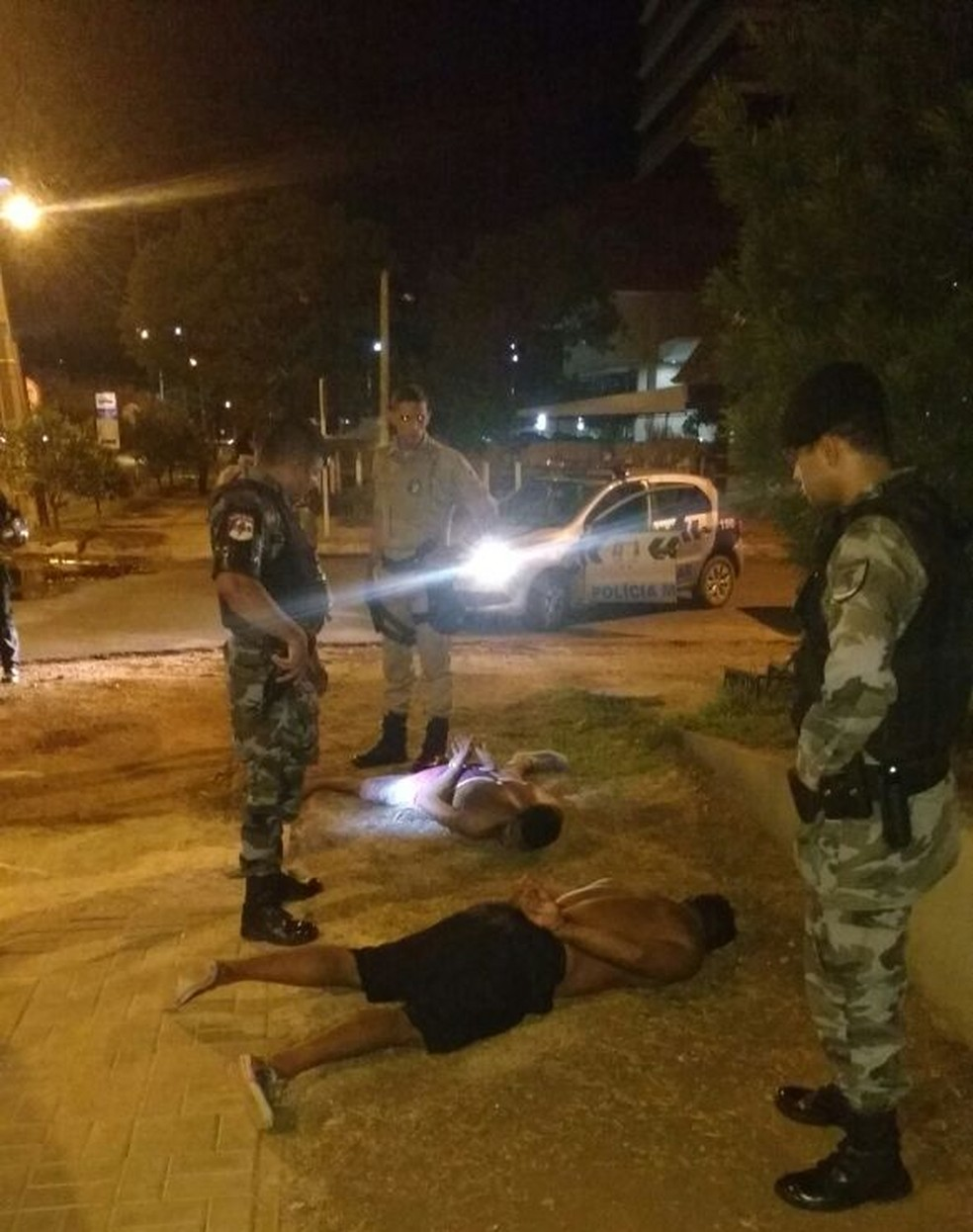 Dois fugitivos foram encontrados no centro de Palmas (Foto: Danilo Gomes Silva/Divulgação)