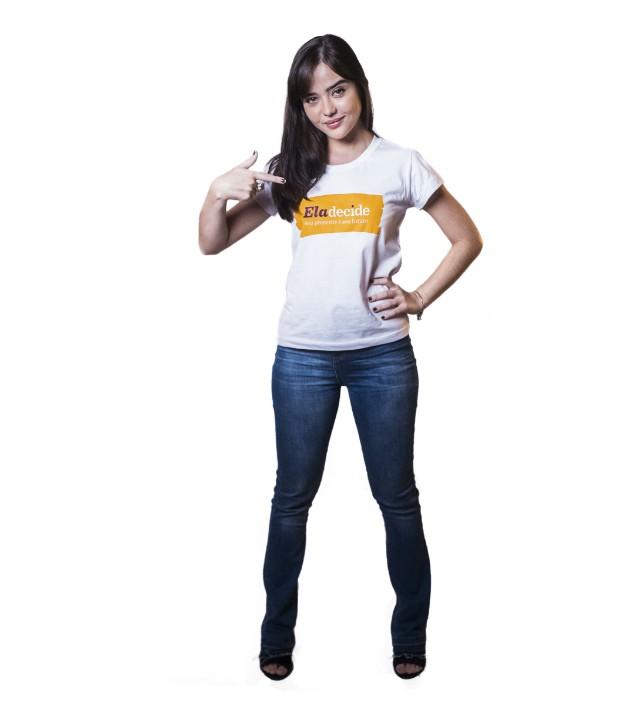 Bella Piero posa para a campanha ONU Ela Decide (Foto: Divulgação)