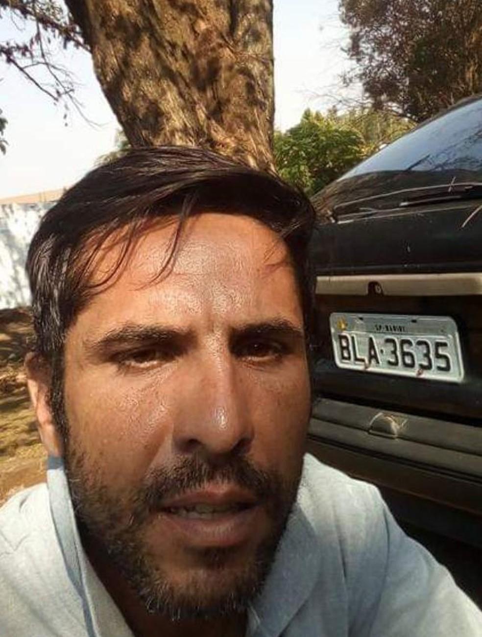 Rodrigo Pereira Alves, de 37 anos, suspeito de matar a jovem Mariana Bazza — Foto: Reprodução/TV TEM