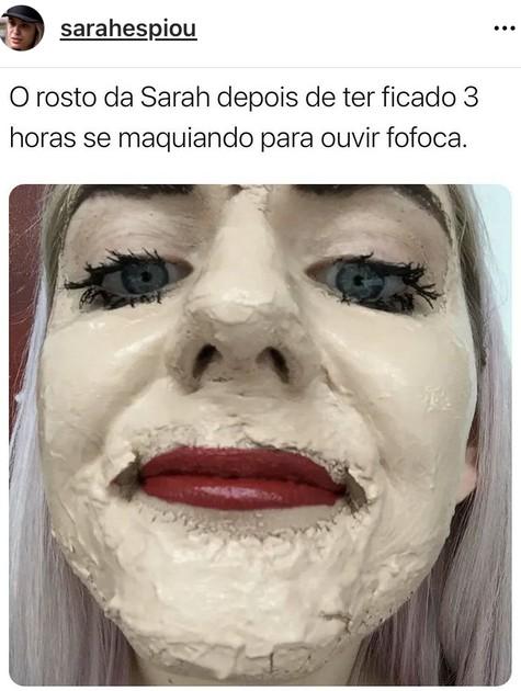 Meme com Sarah, do 'BBB' 21 (Foto: Reprodução)