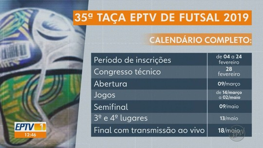 Inscrições para Taça EPTV Ribeirão Preto de Futsal começam nesta segunda-feira