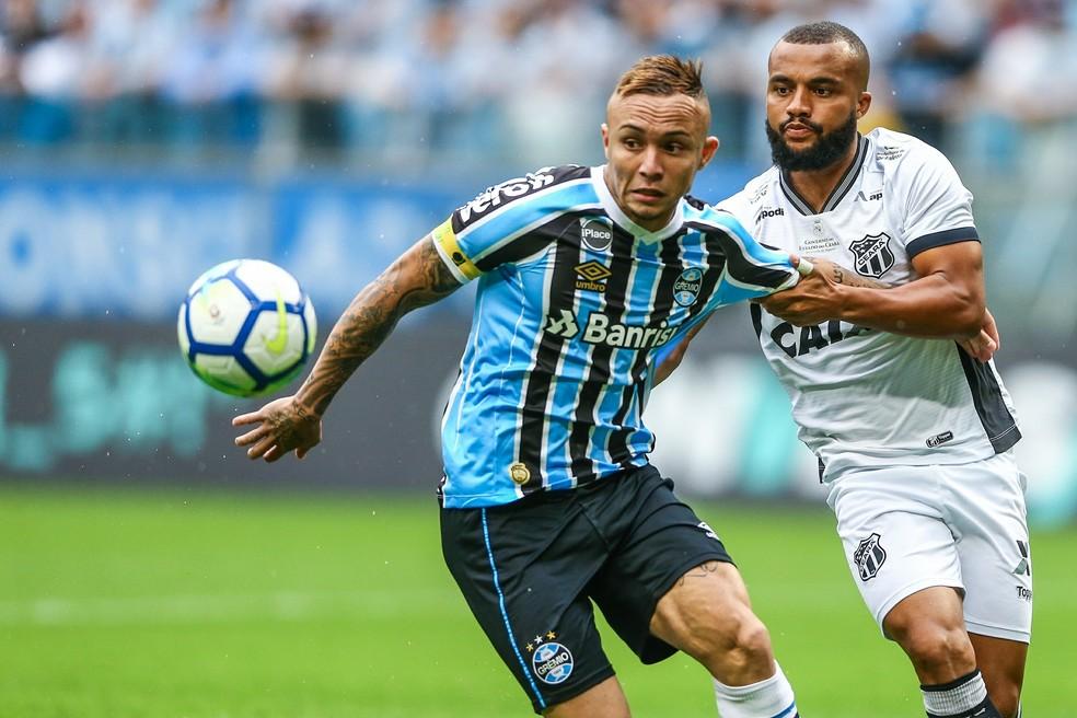 Grêmio pedirá liberação de Everton — Foto: Lucas Uebel/Grêmio FBPA