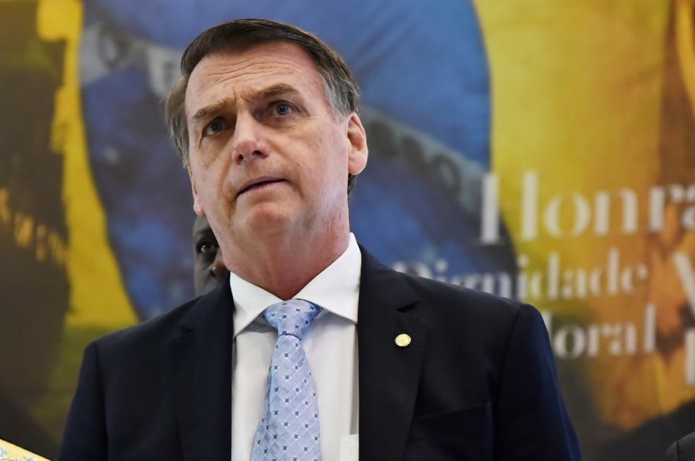 O presidente eleito Jair Bolsonaro — Foto: Rafael Carvalho / Governo de Transição