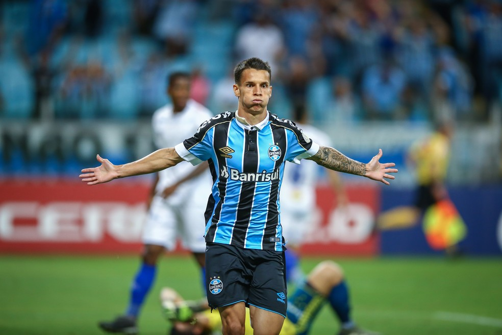 Ferreira, atacante do Grêmio — Foto: Lucas Uebel/Grêmio